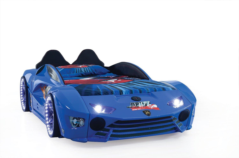 Autobett mit Blautooth in Blau Drift mit LED USB und Sound