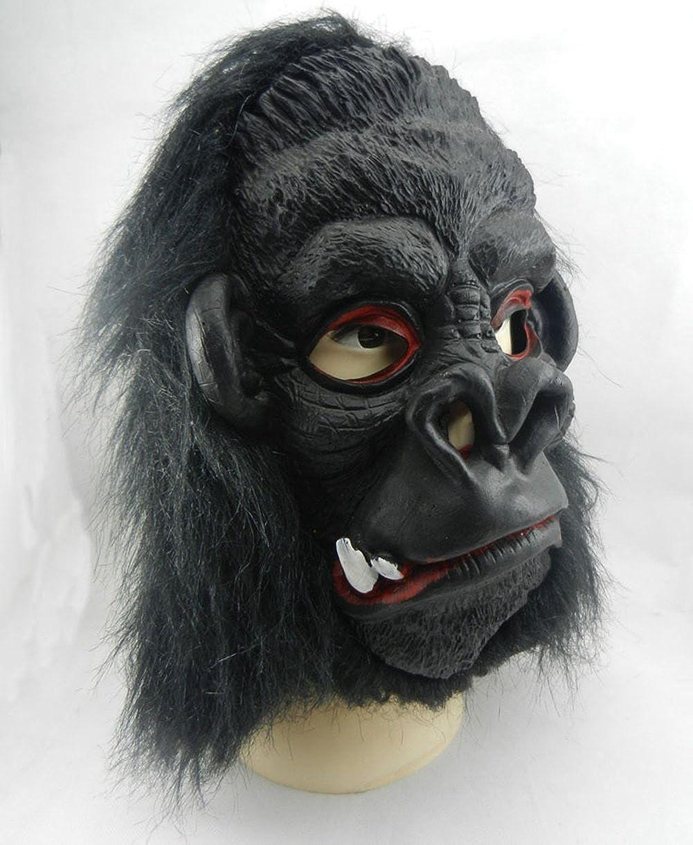 XY Fancy disfraz de Halloween divertido látex máscara, máscara de gorila con orejas grandes juguetes 2 dientes: Amazon.es: Ropa y accesorios