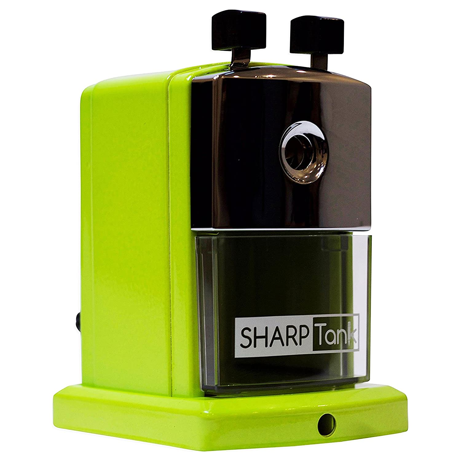 Metallic Silver Compact /& Quiet Classroom Sharpener That Gets Straight to the Point! SharpTank Portable Pencil Sharpener