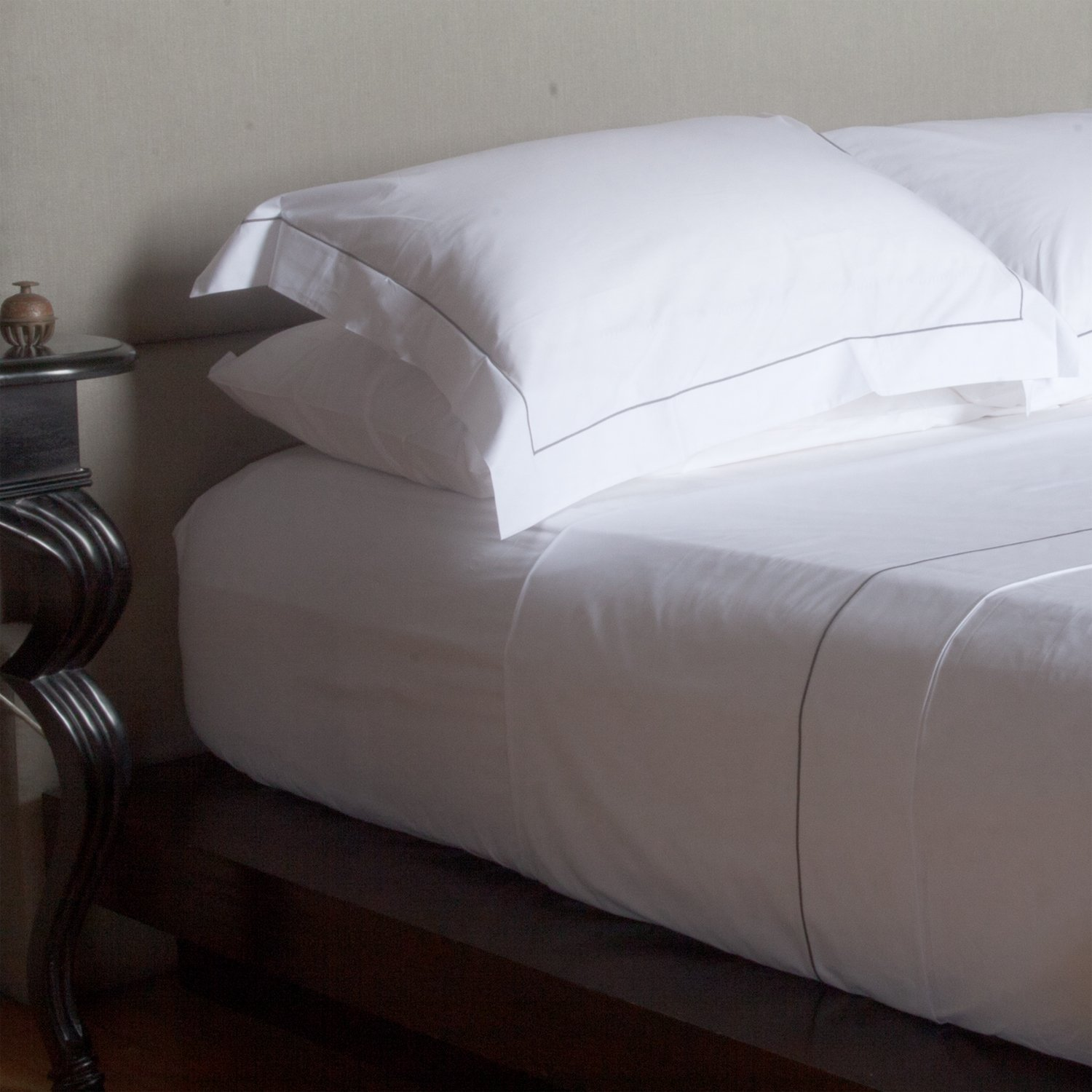 White 500TC Made in Italy Cotton Percale Fitted Sheet - California King