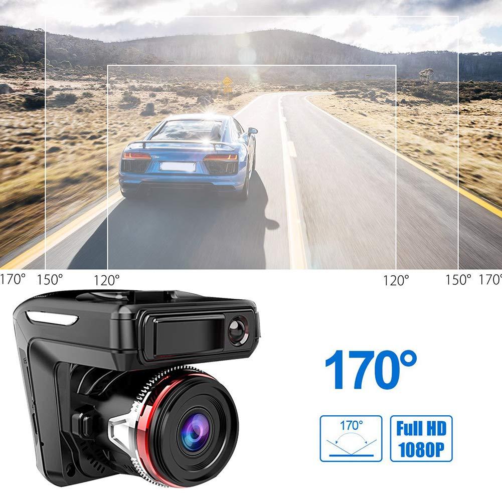 Black 2in1 HD 1080P Car DVR Detector Camera Video Recorder Dash Cam Radar Driving Recorder LCD Display
