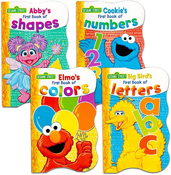 Amazon.com: Sesame Street First Books Series; BIG Bird's Letters, Abby's  Shapes, Elmo's Colors, Cookie's Numbers [Board Book Hardcovers, 4 Books]:  Toys & Games