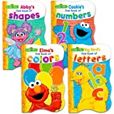 Sesame Street First Books Series; Big Bird's Letters, Abby's Shapes, Elmo's Colors, Cookie's Numbers [Board Book Hardcovers,
