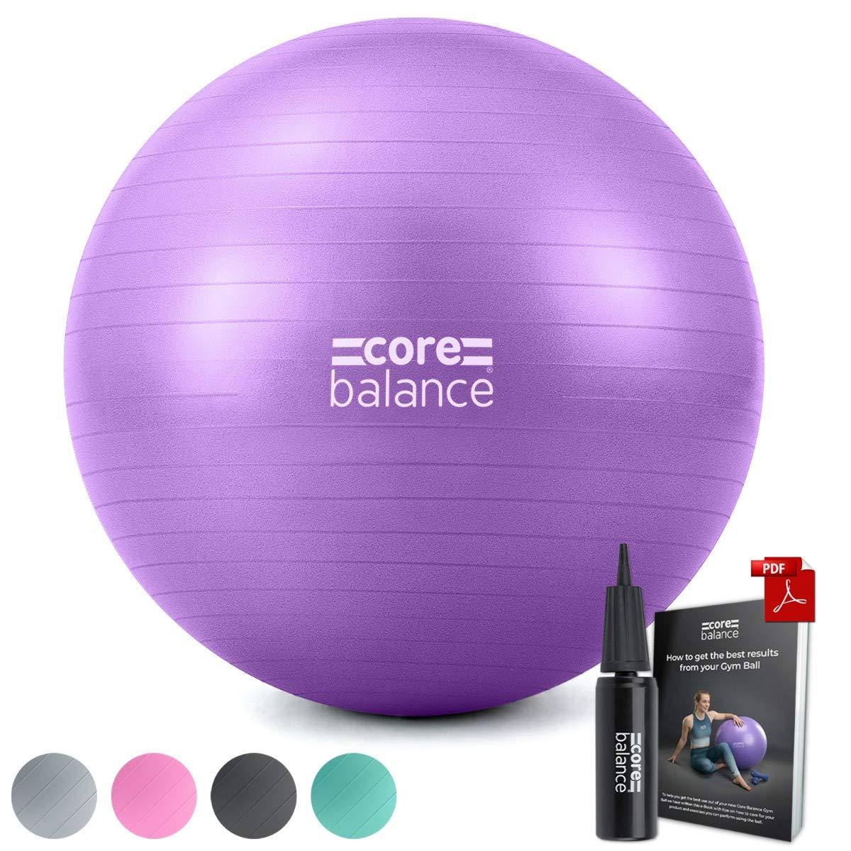 Ballon d/'Exercices pour Entra/înement Gymnastique Antid/érapant//Anti-/Éclatement Core Balance Diam/ètre Disponible : 55//65// 75//85 cm avec 1 x Pompe Yoga Grossesse Fitness