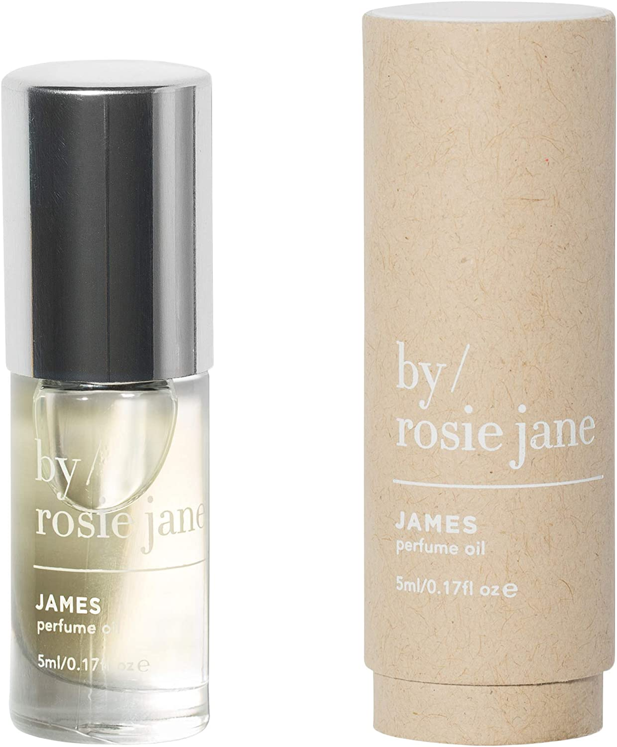 By Rosie Jane James Perfume Oil Roll-On – Fig, Amber, Gardenia Sustainably Sourced Fragrance for Women Men 0.17 Ounces, 5 Milliliters