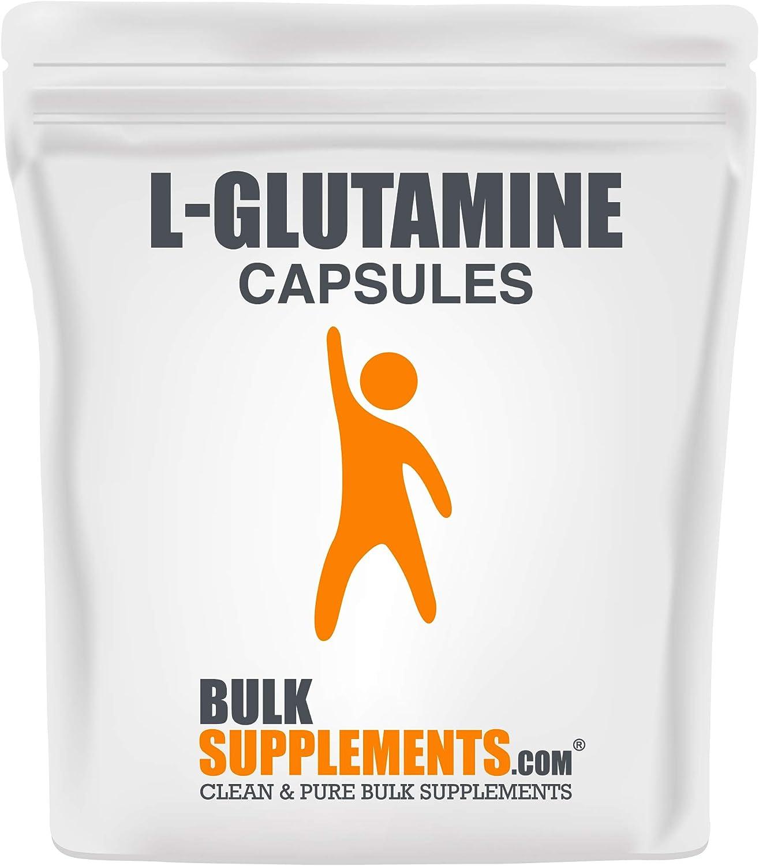 BulkSupplements.com L-Glutamine Capsules 1500mg - BCAAs Amino Acids - Post Workout for Men and Women - BCAA Glutamine (300 Vegetarian Capsules)