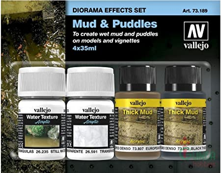 Vallejo Mud and Puddles, Diorama Effects Set for Model & Hobby 73189