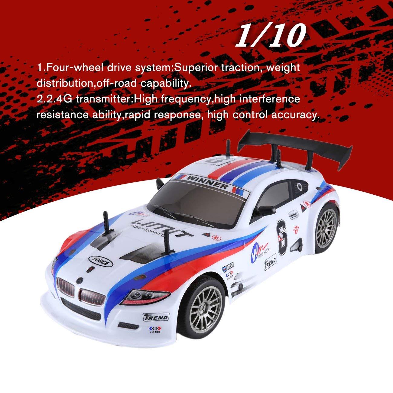 Elviray J601-1 1//10 700mAh 2.4G Racing Car 1:10 RC Modelo de Coche 25 KM//h Flat Sports Drift Veh/ículos Juguetes Enchufe de LA UE para los ni/ños Regalos