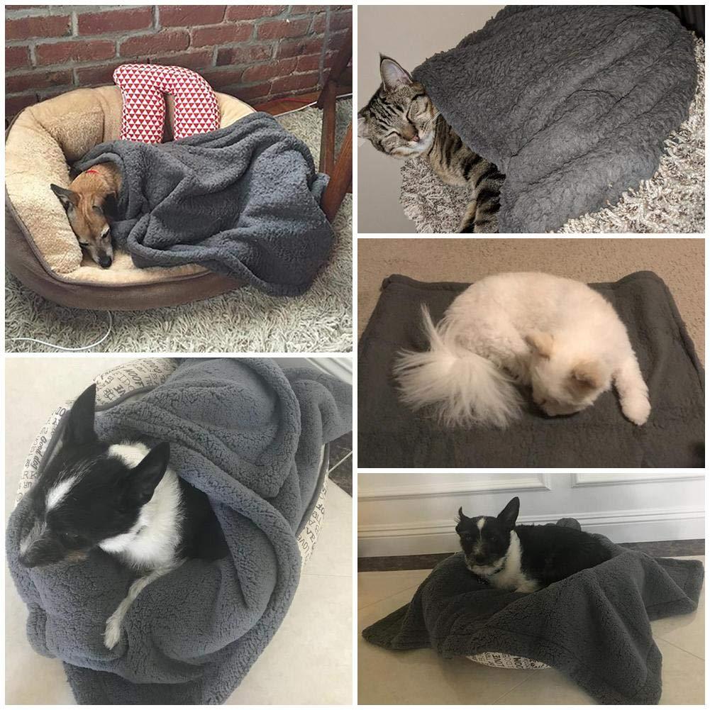 Bulary Pet Blanket Manta de Perro Fleece Fabric Suave y cálida Manta de Tiro de Mascotas Cojín Cómoda Estera de Dormir para Mascotas, Perros, Gatos, ...