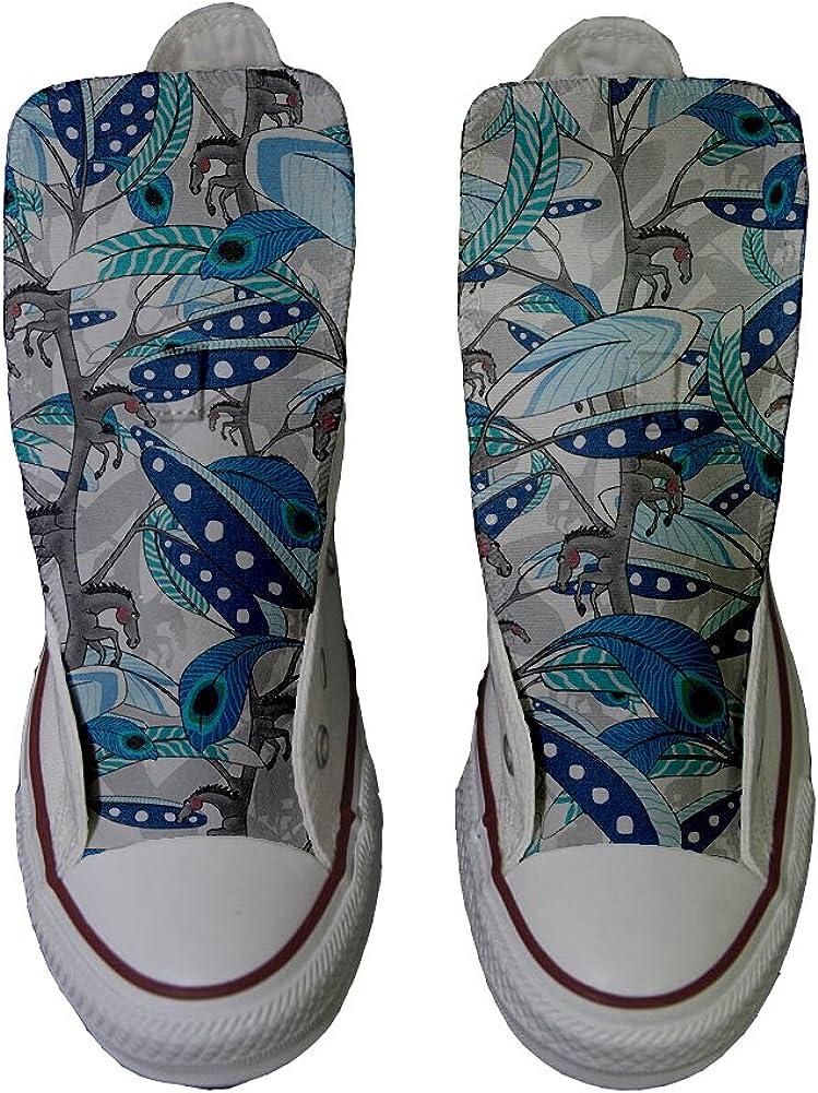 Scarpe Sneakers Personalizzate Horse Feathers Prodotto Artigianale Uomo//Donna Originali Hi Canvas Sneaker Unisex