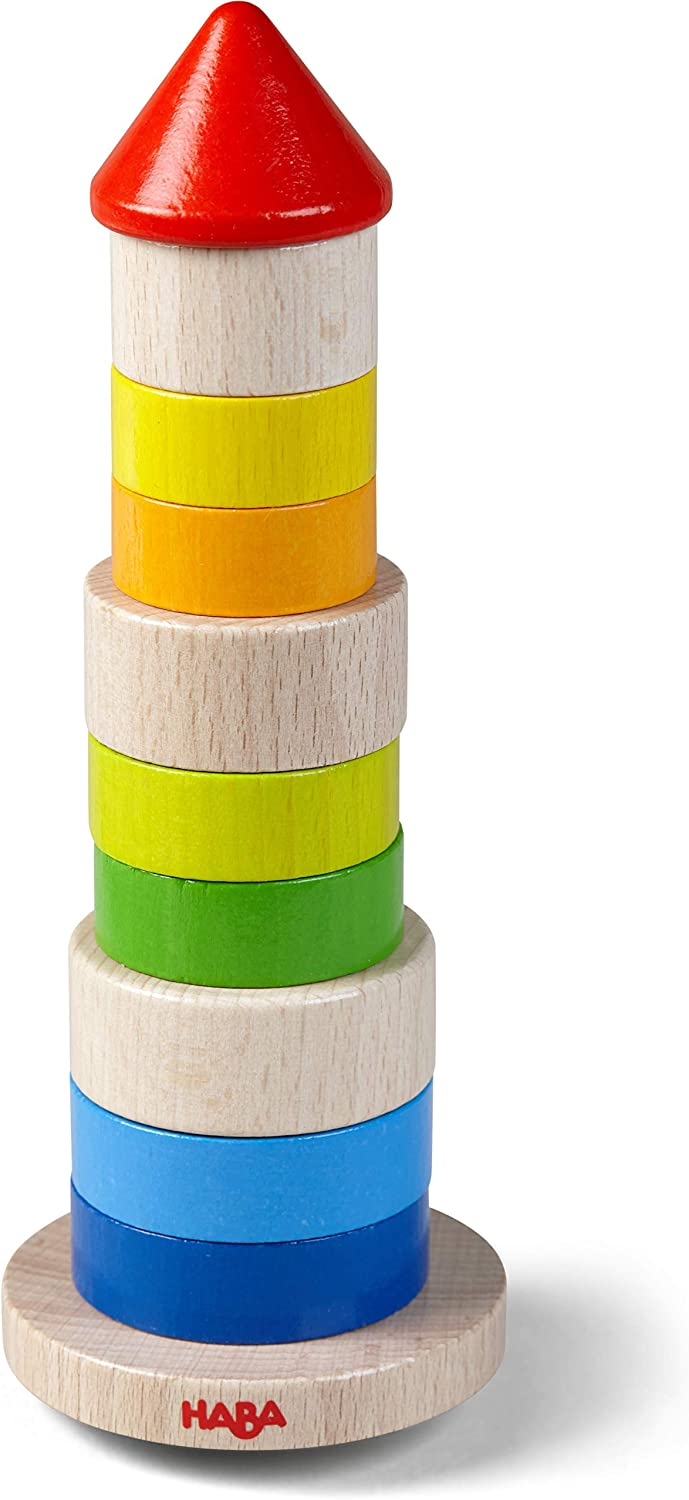 HABA Wooden Wobbly Tower Stacking Game (Made in Germany)