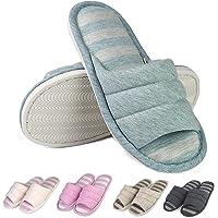 Sakuracan Women/Men Memory Foam House Slippers Home Shoes Open Toe Slip on Cozy Cotton Indoor Outdoor Lightweight Slipper