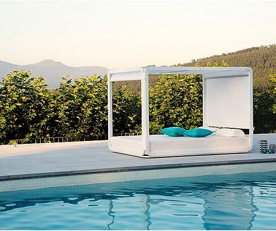 EZPELETA – Cama Pergolas Daybed Alto Ibiza, Gris: Amazon ...