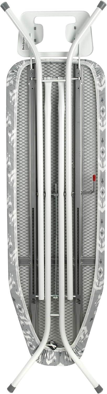 120 x 38 cm Incluye una Funda de algod/ón 100//% con Estampado Gris Beldray Tabla de Planchar LA063052AS 120/x/38/cm