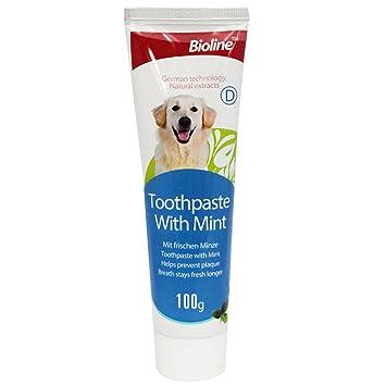 Pasta de dientes para perros (100 g), cuidado dental para perros, refresca