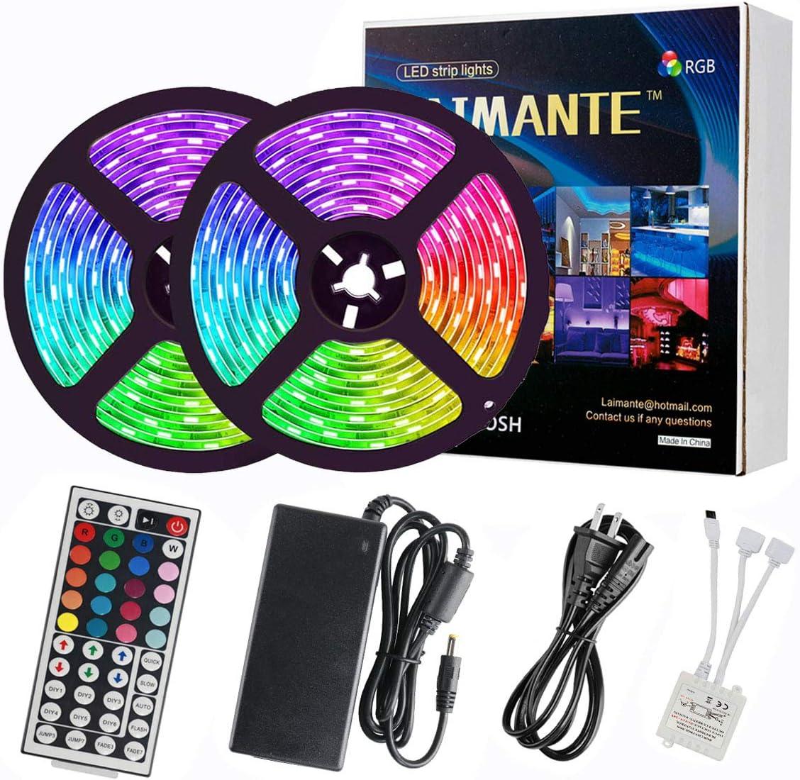 DC 12V 5M SMD 5050 White Non Waterproof 300 LED Flexible 3M Tape Strip Light TV