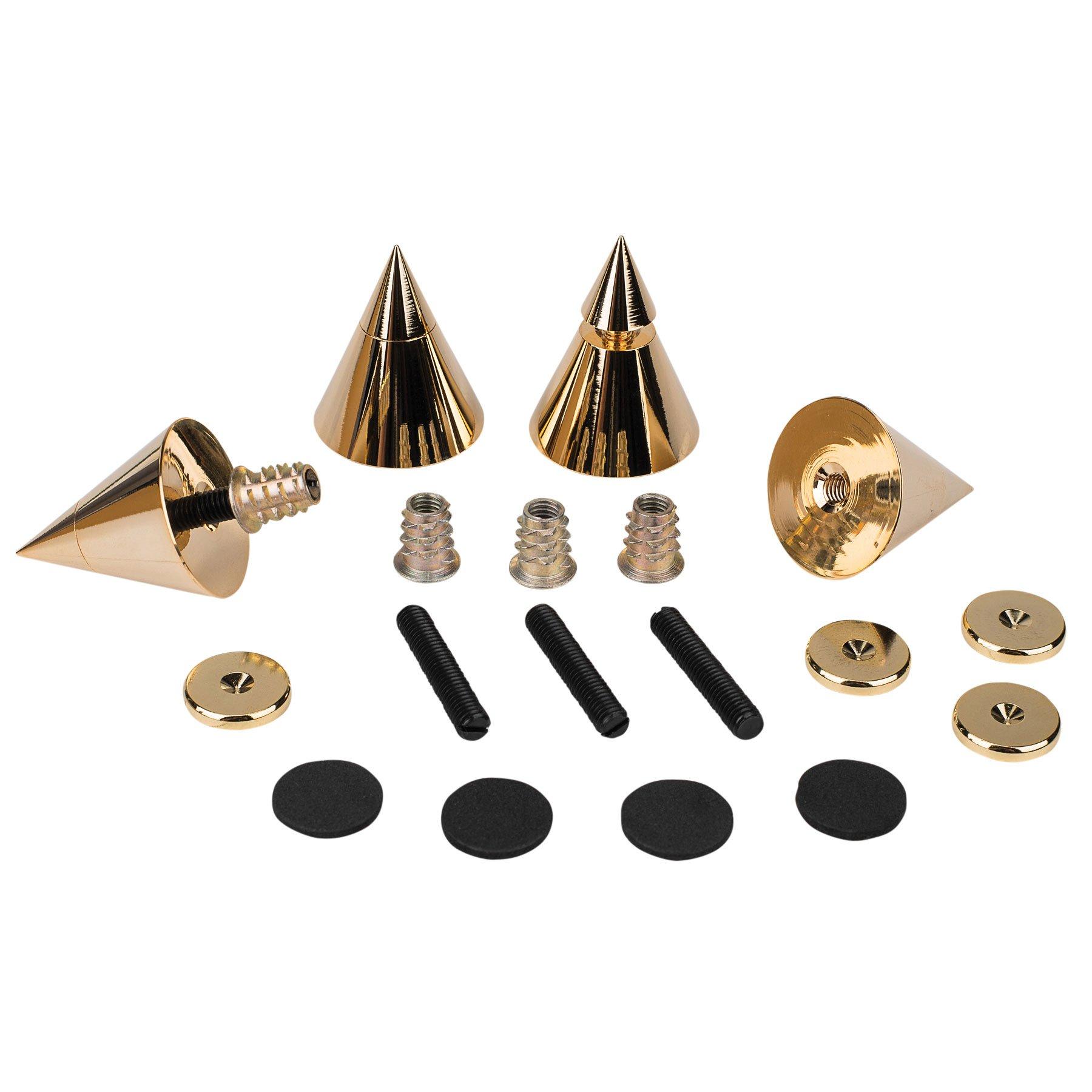 Dayton Audio DSS4-G Gold Speaker Spike Set 4 Pcs. by Dayton Audio