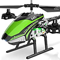 SYMA RC Helicopter, S40 Helicopter with 4 Channel Aircraft, Sturdy Alloy Material, Gyro Stabilizer and High &Low Speed, Multi-Protection Drone for Kids and Beginners to Play Indoor