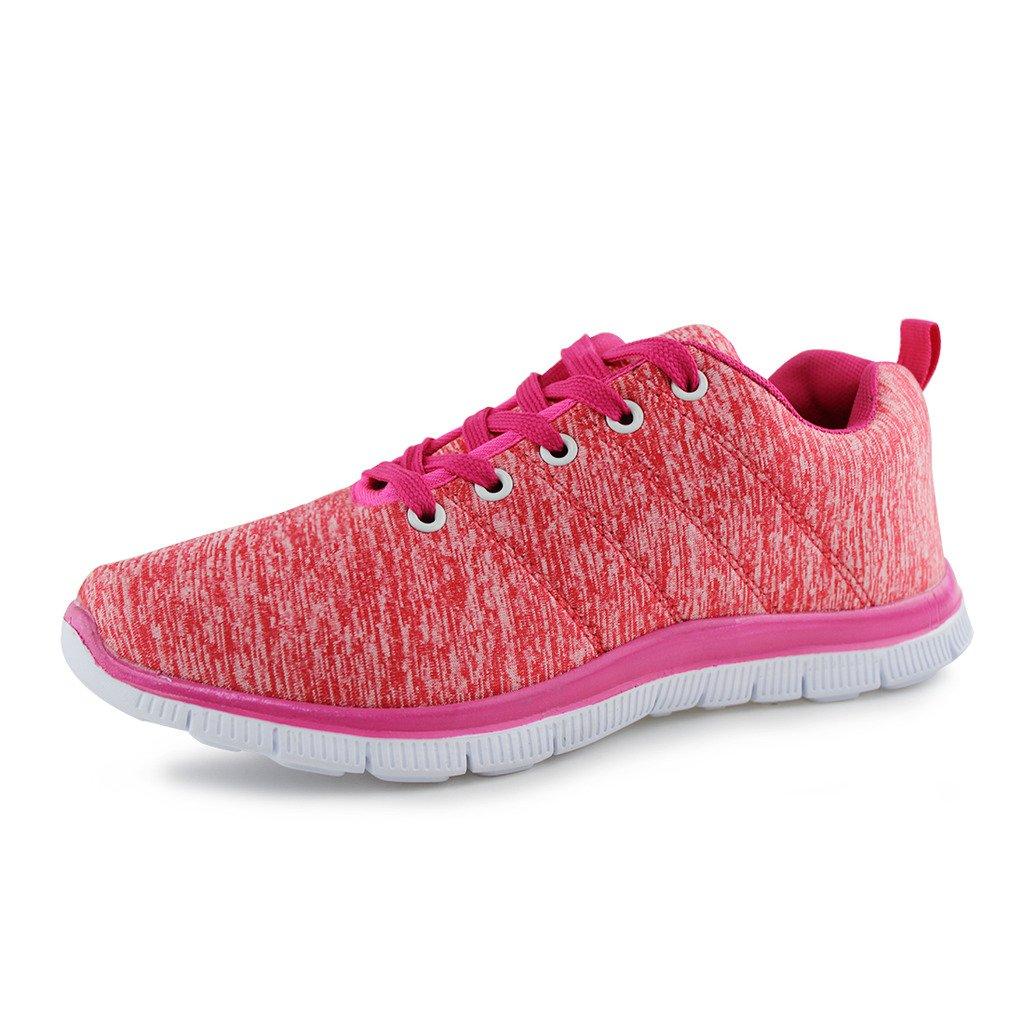 Hawkwell Women's Light Weight Sport Fashion Sneaker B0711NLYQ7 5 B(M) US|Coral