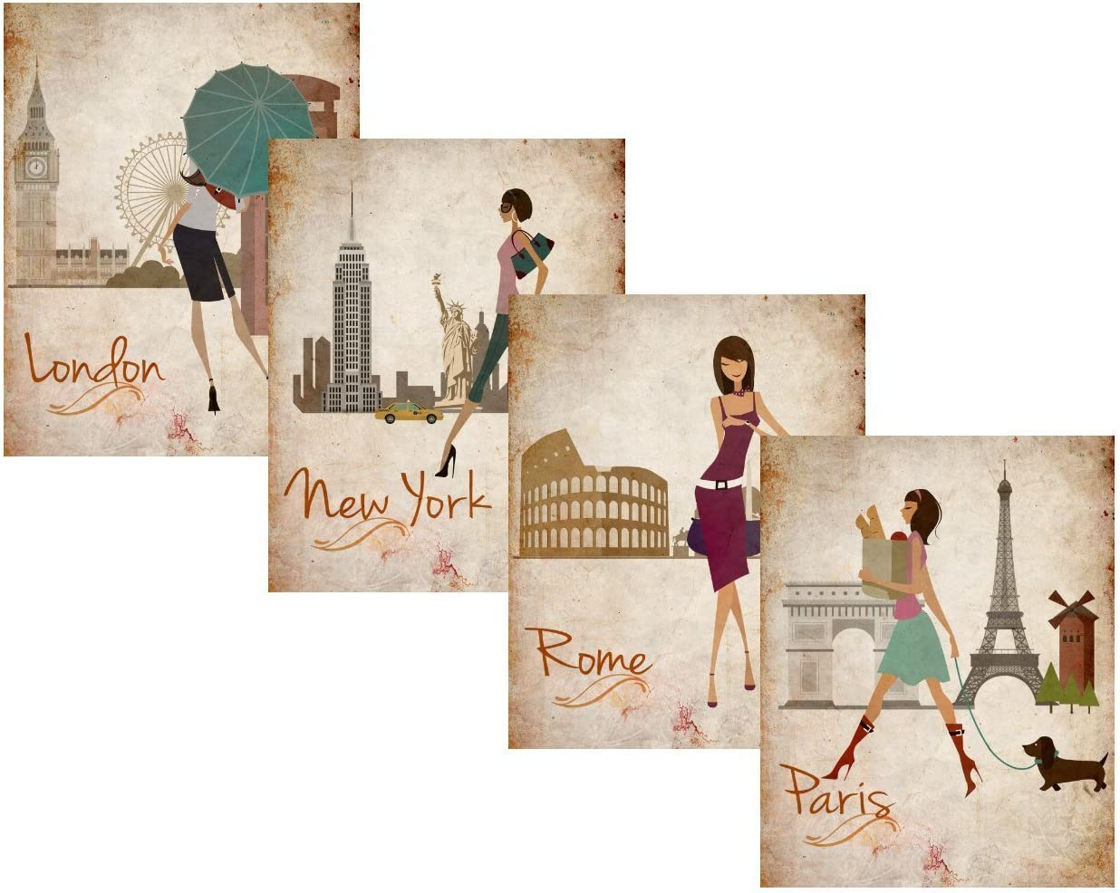 New York Paris beauty room bedroom OFFICE Art Fashion Cities Print London