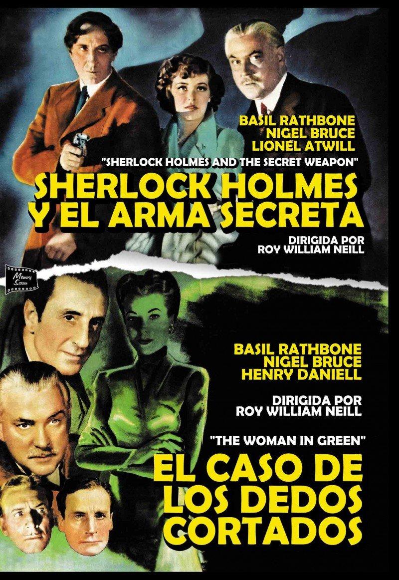 Pack Sherlock Holmes Y El Arma Secreta - El Caso De Los Dedos Cortados DVD: Amazon.es: Basil Rathbone, Nigel Bruce, Lionel Atwill, Hillary Brooke, Roy William Neill, Basil Rathbone, Nigel Bruce: Cine