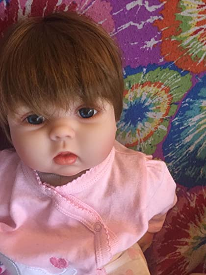 JOYMOR 22 Inch Reborn Baby Doll Birthday Gift Vivid Real Looking Dolls Full Silicone Vinyl Lifelike Realistic Child Growth Partner Washable Soft Body Lovely Simulation Fashion As advertised, daughter loves it.
