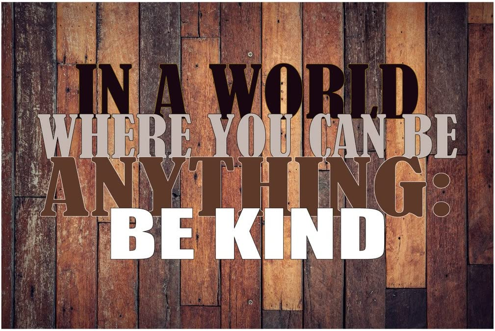 MR.CI in A World Where You Can Be Anything Be Kind Poster Wall Print|Inspirational Motivational Gym Classroom Home Office Dorm|18 X 12 in|SJC156