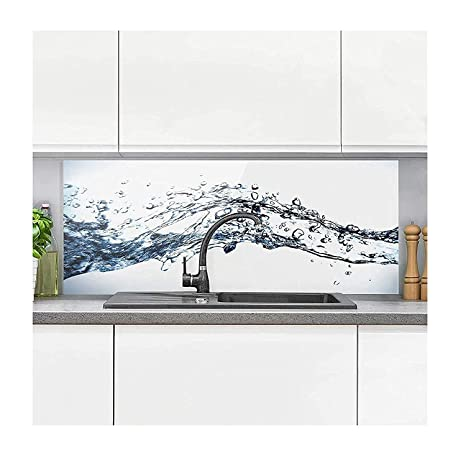 Spritzschutz Küche - Water Splash I inkl. Magnethalterung I hitzebeständig  für alle Herdarten geeignet I Küchenrückwand Glas, Spritzschutz Herd, ...