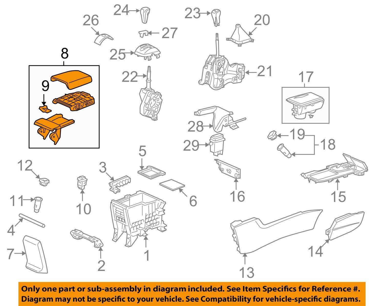 Honda Genuine 83450-TB2-H21ZA Console Armrest Assembly