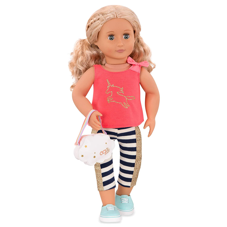 "Rainbow Glitter Strap Tennis Shoes for American Girl Dolls /& 18/"" Dolls"