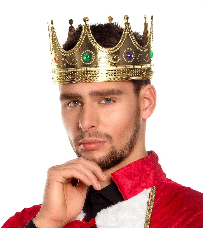 Chapeau Roi Couronne pour Homme D/éguisement Nativit/é M/édi/éval Livre Jour Adulte Accessoire de Costume. Boland B.V