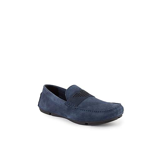 Emporio Armani Driving Shoe Hombre Zapatos Azul: Amazon.es: Zapatos y complementos