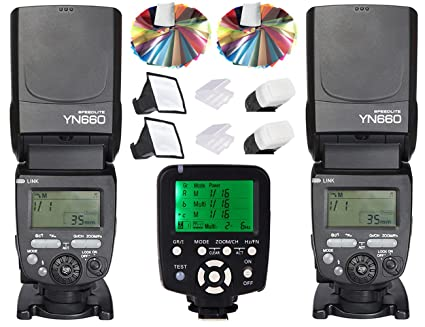 Yongnuo Speedlite flash yn660 (actualización de YN560IV) 2pcs + ...