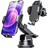 [2021 Upgraded] VANMASS Car Phone Mount [for Trip & Family & Friend] Super Strong Suction Cup, Handsfree Windshield Dash Air