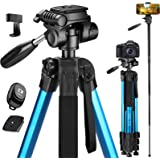 Victiv 72-inch Camera Tripod Aluminum T72 Max Height 182cm- Lightweight Tripod & Monopod Compact for Travel with 3-way…