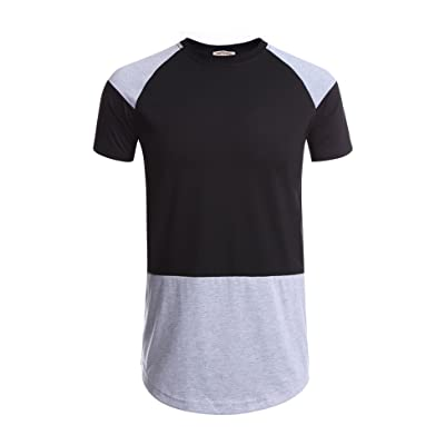 Hotouch Men's Fashion Hip Hop Hipster Short Sleeve T Shirt Crew Neck Tee Tops at Men's Clothing store