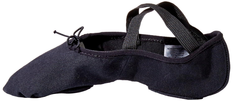 Bloch Dance Womens Zenith Stretch Canvas Ballet Slipper/Shoe B00P2OLCYC 7 D US|Black