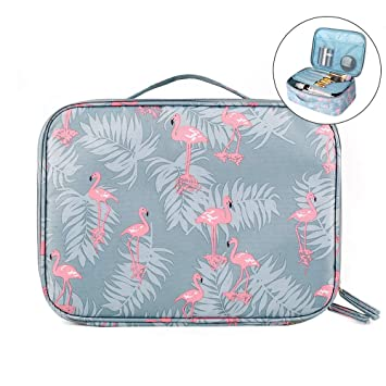730a931ee6af Large Makeup Bag, Toiletry Bag, Travel Cosmetic Bag, Waterproof Portable  Makeup Pouch, KUPIDER...
