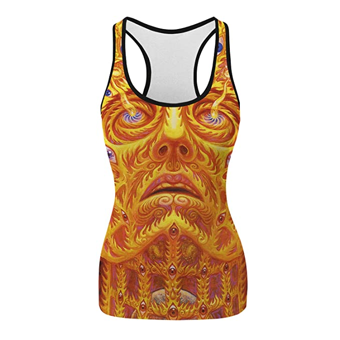 Amazon.com: Camiseta de tirantes ajustada para mujer con ...