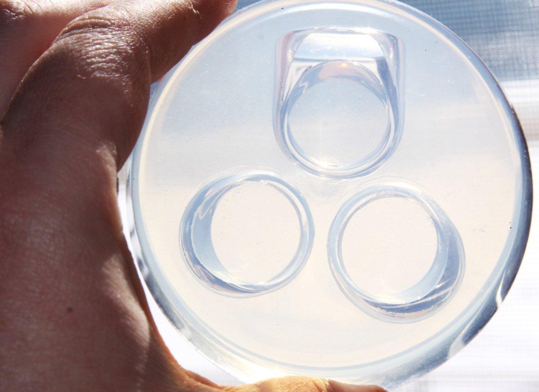 clear-silicone Anillo molde. 3pc-size 9. (1 - 04): Alenka D.: Amazon.es: Hogar