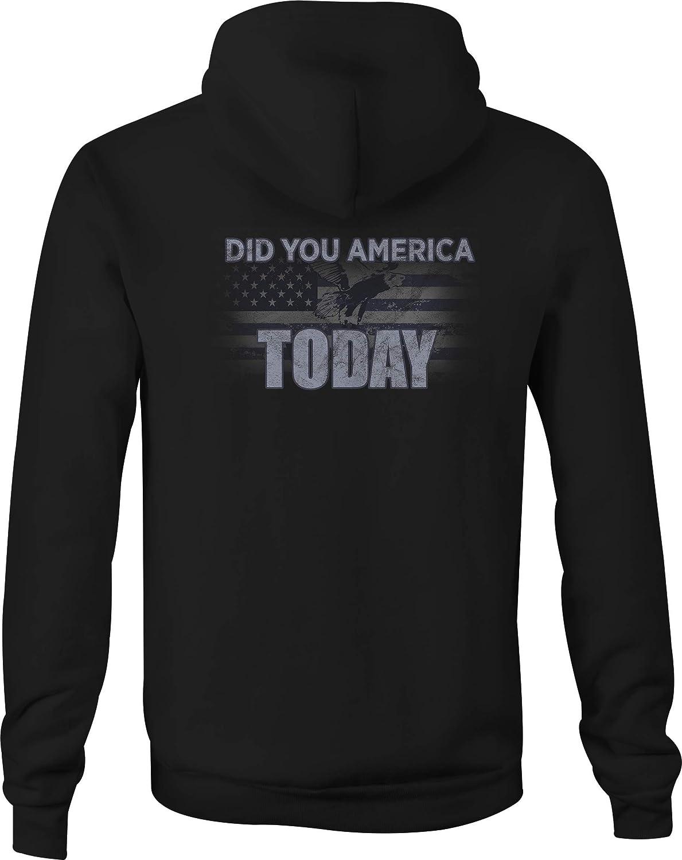 Zip Up Hoodie Maine Flag Hooded Sweatshirt for Men