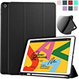 Soke iPad 7th Generation Case, New iPad Case 10.2 Case 2019 with Pencil Holder, Lightweight Smart Cover with Soft TPU Back, Auto Sleep/Wake for iPad 7th Gen 2019