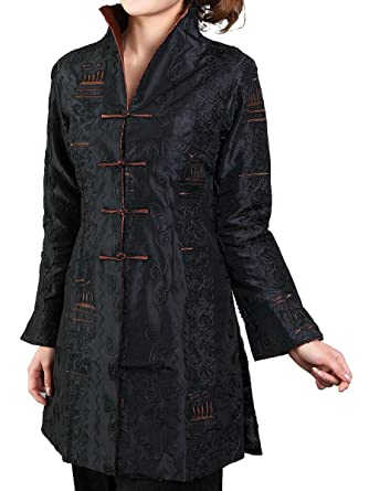 94b6bb35d41627 Amazon.com  Bitablue Chinese Jacket with Leafy Embroidery Pattern ...