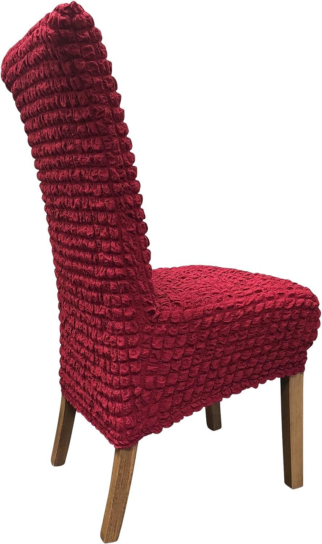 SCHEFFLER-Home Julia 2 Fundas de sillas Beige Moderna extra/íble flexibel Funda con Banda el/ástica Estirable Cubiertas