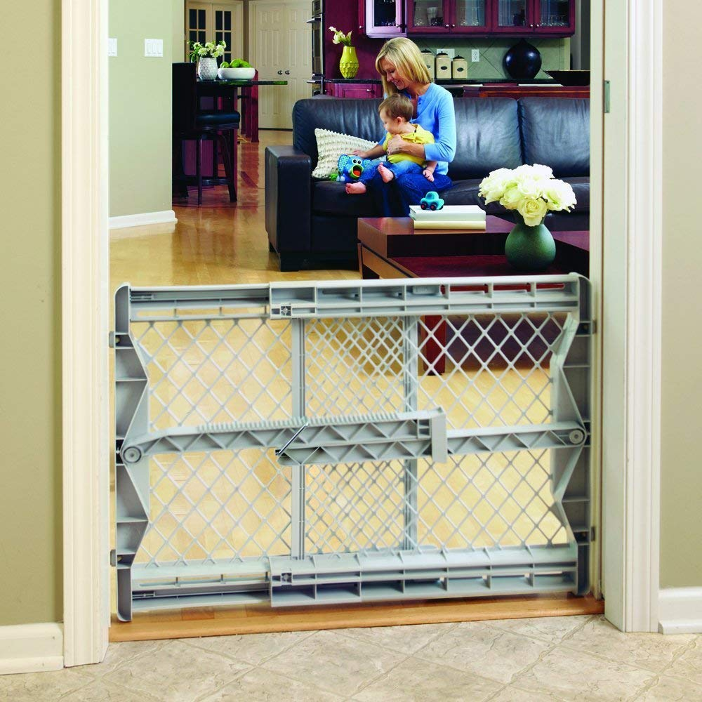 North States Top Notch Plastic Pressure Mounted Baby Pet Safety Gate (3 Pack) by North States (Image #3)