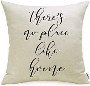 Meekio Farmhouse Pillow Covers with There's No Place Like Home Quote 18