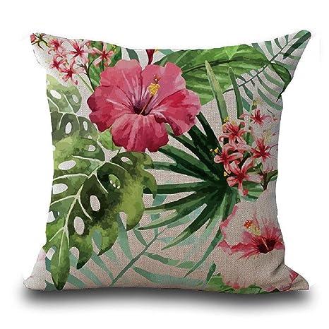 VJGOAL Casual Vintage Flor de Hibisco Mariposa Hojas ...