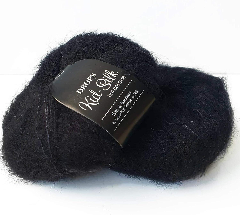 DROPS Kid-Silk Mohair Knitting Yarn Mix Of Super Kid Mohair And Silk Hand Knitting Crochet Yarn Lace 25g app 210m