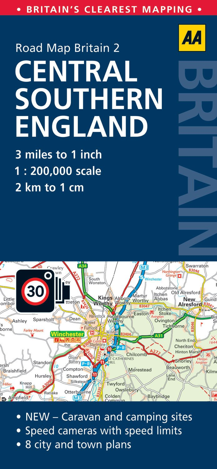 Road Map Britain 02 Central Southern England 1 : 200 000 (Aa Road Map Britain Series)