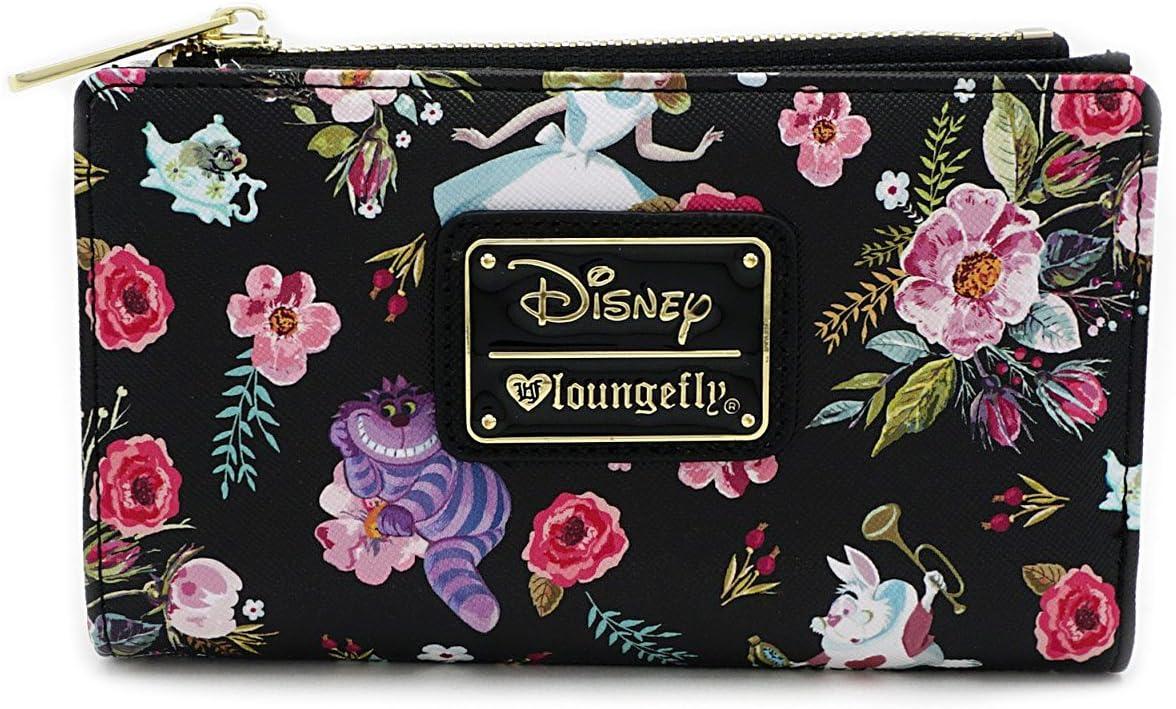 Alice In Wonderland Princess Leather Men Wallet Purse Card Holder Bifold